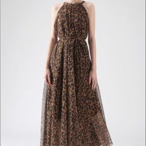 Leopard Maxi Slip Dress